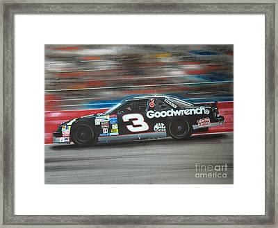 Dale Earnhardt Goodwrench Chevrolet Framed Print by Paul Kuras