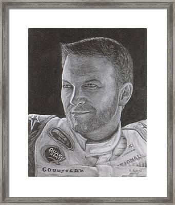 Dale Earnhardt Jr. 2 Framed Print by Rick Yanke