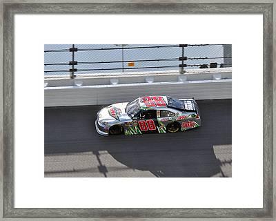 Dale Earnhardt Jr Framed Print by Jason Loving