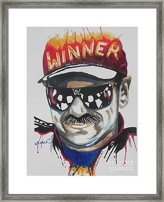 Dale Earnhardt Sr Framed Print by Chrisann Ellis