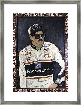 Dale Earnhardt Sr. - The Intimidator Framed Print by Eric Cunningham