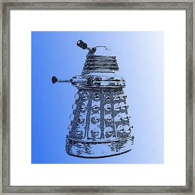 Dalek Blue Framed Print