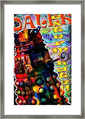 Dalek Exterminate Framed Print by Mark Compton