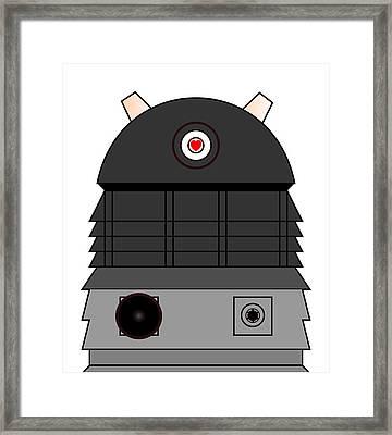 Dalek I Love You Framed Print