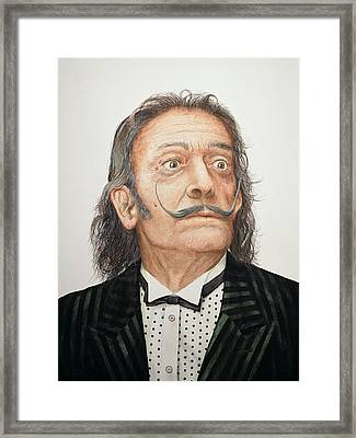 Dali 1904-89 Wc On Watercolour Board Framed Print by Trevor Neal
