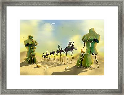 Dali On The Move  Framed Print by Mike McGlothlen