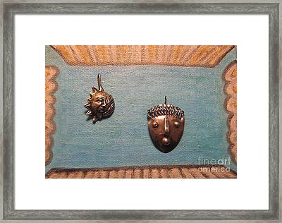 Dali Stop Poking My Eye Eye Separatist Movement Jewelry Art Pair Framed Print by Lois Picasso