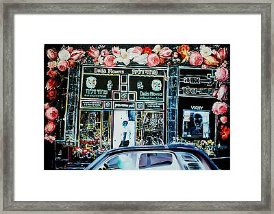 Dalia Flowers Framed Print by Nekoda  Singer