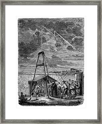 Dalibard's Lightning Experiment Framed Print