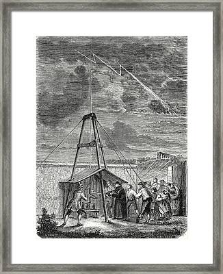 Dalibards Scientific Experiment Conducted In Marly 10 Framed Print