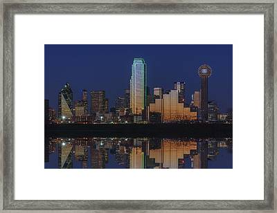 Dallas Aglow Framed Print