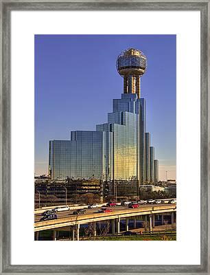 Dallas Architecture Framed Print by Ricky Barnard