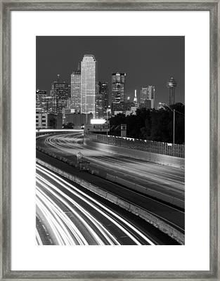Dallas Arrival Bw Framed Print
