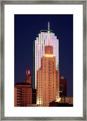 Dallas At Dawn Framed Print by David Perry Lawrence