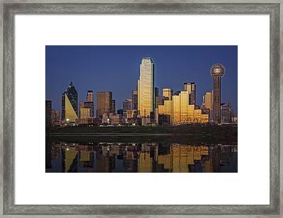 Dallas At Dusk Framed Print