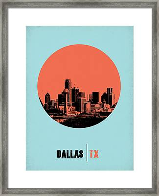 Dallas Circle Poster 1 Framed Print