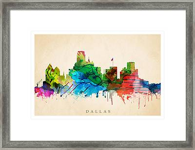 Dallas Cityscape Framed Print