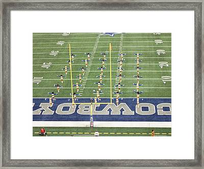 Dallas Cowboys Cheerleaders Framed Print by Donna Wilson