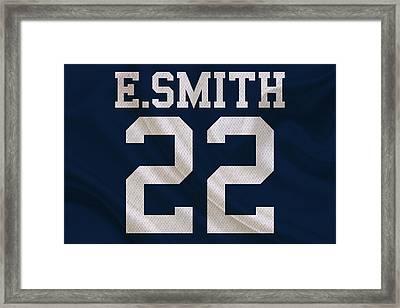 Dallas Cowboys Emmitt Smith Framed Print by Joe Hamilton