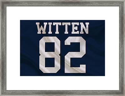 Dallas Cowboys Jason Witten Framed Print