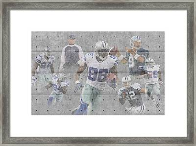 Dallas Cowboys Team Framed Print by Joe Hamilton