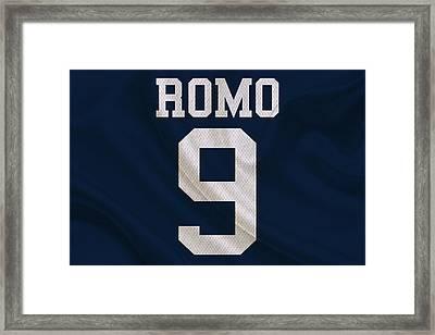 Dallas Cowboys Tony Romo Framed Print by Joe Hamilton