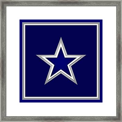 Dallas Cowboys Framed Print by Tony Rubino