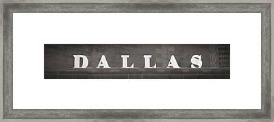 Dallas Framed Print by Darryl Dalton