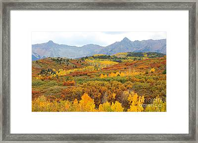 Dallas Divide In The Fall Framed Print