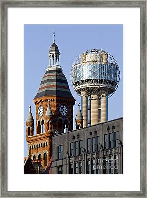Dallas Downtown Framed Print