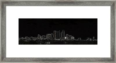 Framed Print featuring the photograph Dallas Glow Skyline by Ellen O'Reilly