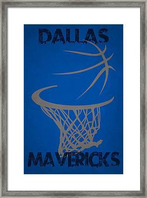 Dallas Mavericks Hoop Framed Print by Joe Hamilton