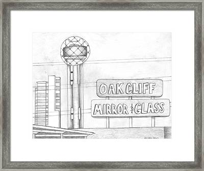 Dallas Framed Print by Michael Lewis