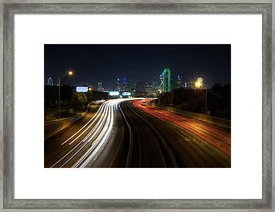 Dallas Night Light Framed Print
