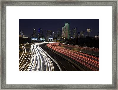 Dallas Night Framed Print by Rick Berk