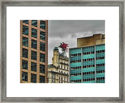 Dallas Pegasus Framed Print by Kathy Churchman