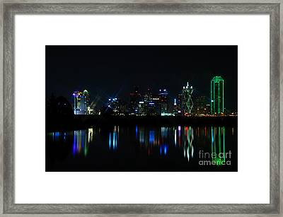 Dallas Reflections Framed Print by Charles Dobbs