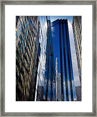 Dallas Reflections Framed Print by Mark Alder