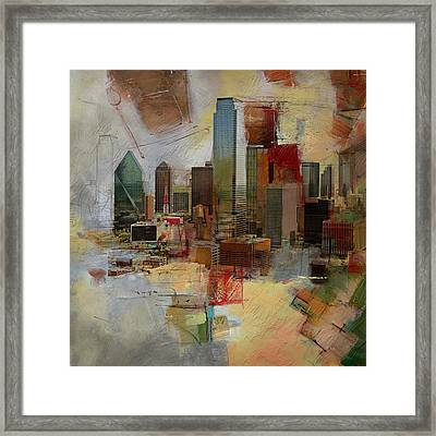 Dallas Skyline 003 Framed Print