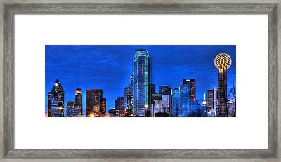 Dallas Skyline Hd Framed Print