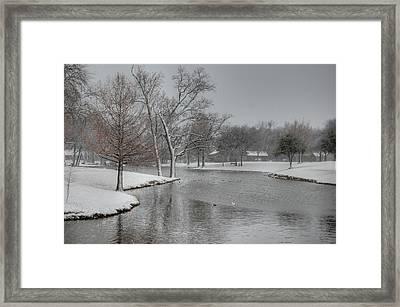 Dallas Snow Day Framed Print