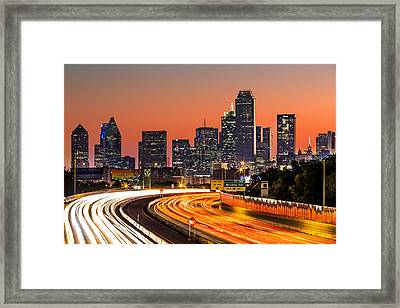 Dallas Sunrise Framed Print