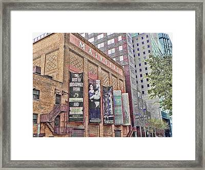 Dallas Texas Majestic Theater Framed Print by Kathy Churchman