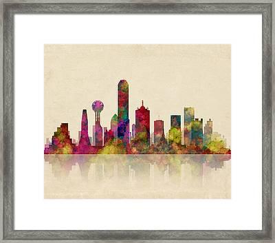 Dallas Texas Skyline Framed Print