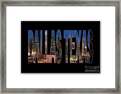 Dallas Texas Skyline Framed Print by Marvin Blaine