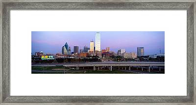 Dallas Tx Framed Print by Panoramic Images