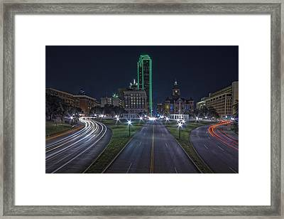 Dallas West End At Night Framed Print by Jonathan Davison