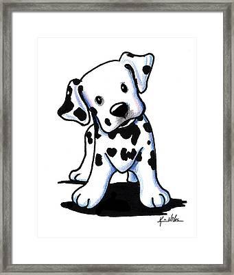 Dalmatian Puppy Framed Print by Kim Niles