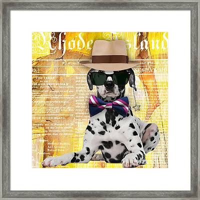 Dalmatian Bowtie Collection Framed Print