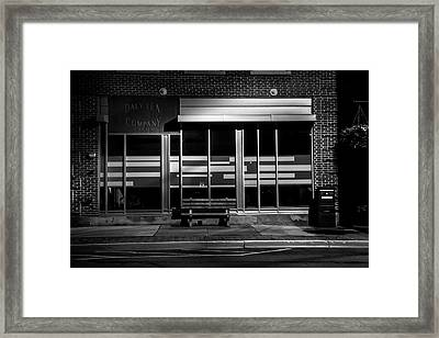 Daly Tea Company At Night Framed Print